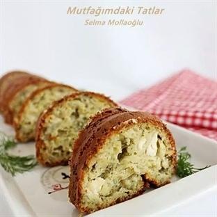 Kabaklı Peynirli Kek (Tuzlu kek)