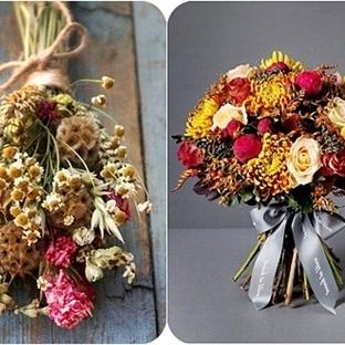 Kurumuş Çiçeklerden Gelin Buketi Modelleri