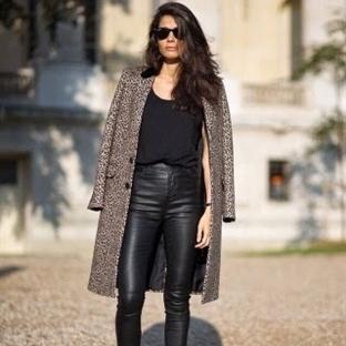 Moda: Siyah Deri Tayt