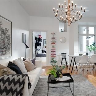 İskandinav stili modern ev dekorasyonu