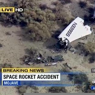 SpaceShipTwo Uzay Gemisi Test Uçuşunda Düştü