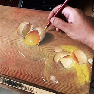 Ahşap Üzerine Hiper Gerçekçi Çizimler