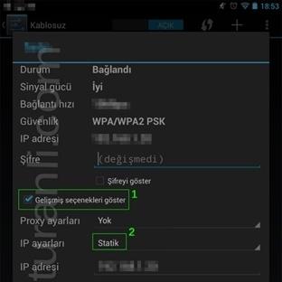 Android Cihazlarda DNS Ayarlarını nasıl degişir