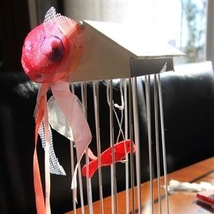 Dekoratif kuş kafesi