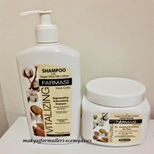 FARMASİ ARGAN OİL & SİLK COTTON ŞAMPUAN VE MASKE