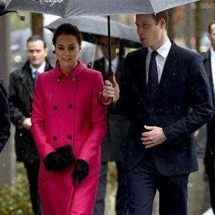 Kate Middleton: Mulberry Kruvaze Manto