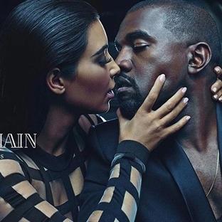 Kim Kardashian ve Kanye West, Balmain reklamında