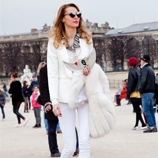 Kış 2015'in trend renklerinden beyaz ile stil
