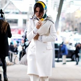 2015 kışında beyaz renkle trendy stiller
