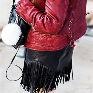 Kışın trend stili püsküllerle