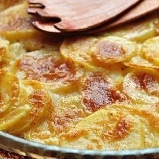 Kremalı ve Kaşar Peynirli Patates