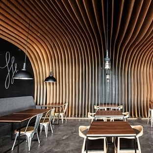 OOZN Design'dan Endonezya'da Six Degrees Cafe