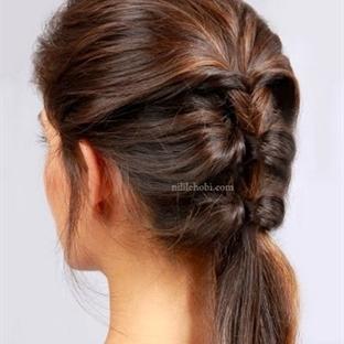 Şık Farklı ve Çok Pratik Saç Modeli Yapımı