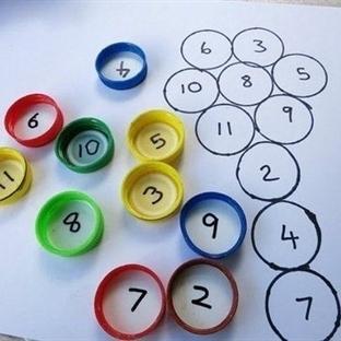 Şişe kapakları eğlenceli matematik