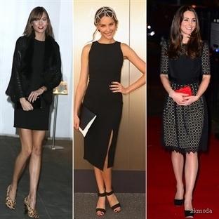 Ünlülerin siyah gece kıyafetleri