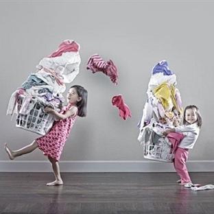 Yaratıcı babanın küçük kızlarıyla fotoğrafları