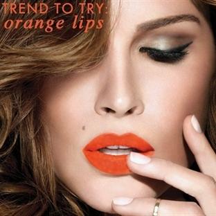 2014 Makyaj Trendleri - Turuncu Dudaklar
