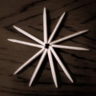 5 kırık kürdandan 5 köşeli 1 yıldız