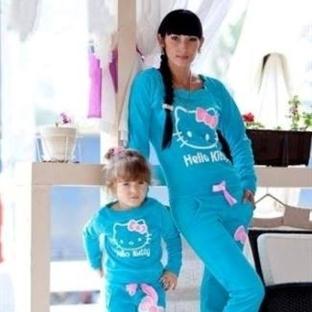 Anne Çocuk Aynı Eşofman Modelleri