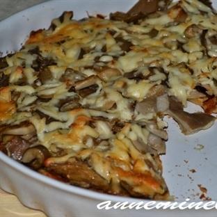 Anneminelinden Kayın Mantarlı Pizza