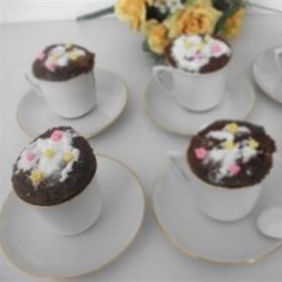 Çikolatalı Fincan Kek