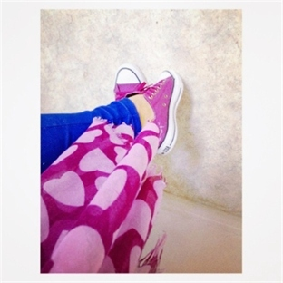 Converse All Star Pink (:
