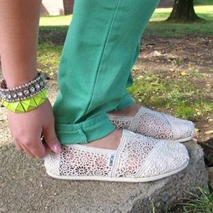 Dantel TOMS Ayakkabı Modelleri ve Kombinleri