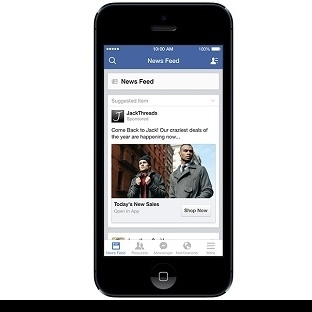"Facebook Reklamlara ""Shop Now"" Butonunu Ekliyor"
