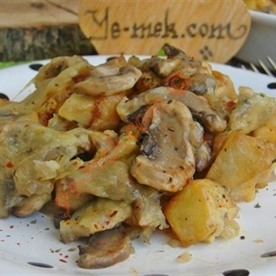 Fırında Mantarlı Patates (Resimli Anlatım)