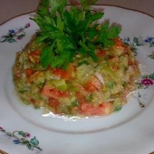 Gömme ( Közlenmiş Patlıcan Salatası)