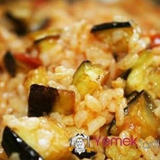 Hindi Etli Patlıcanlı Pilav