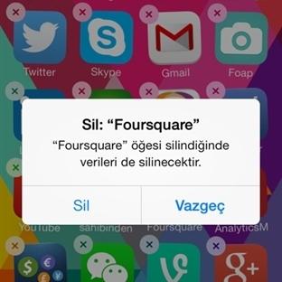 iPhone Uygulama Kaldırma