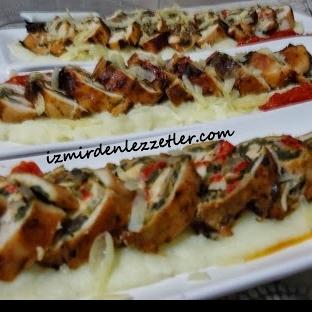 Ispanaklı Tavuk Rulo