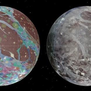 Jüpiterin Uydusu Ganymede'nin Haritası Çıkarıldı