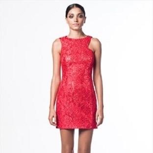 Kırmızı Elbise Modelleri 2014