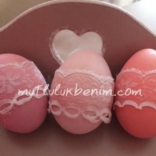 Kızımın süslü kırk uçtu yumurtaları