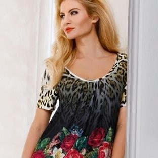 Leopar Desenli Elbise Modelleri 2014