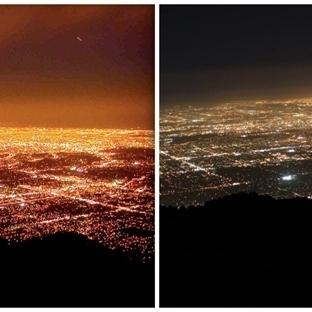 Los Angeles Sokakları LED Aydınlatma Zamanı
