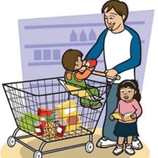 Market Arabalarındaki Çocuklar