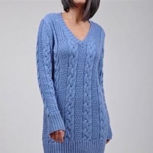 Mavi Bayan Kazak Modelleri