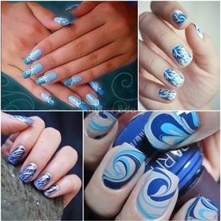 Mavinin Her Tonunda Harika Tırnaklar