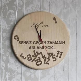 Mesaj Yazabileceğiniz İsimli Duvar Saati