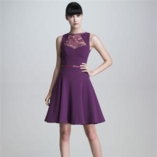 Mor Uzun Abiye Elbise Modelleri