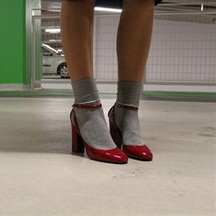 Oversize Palto ve Kırmızı Rugan Ayakkabılarım!
