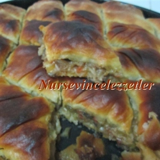Patlıcanlı El Açması Nefis Kat kat Börek