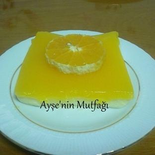 Portakal soslu muhallebi