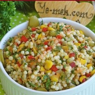 Renkli Kuskus Salatası (Resimli Anlatım)