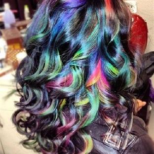 Renkli saç tebeşirleri ile istediğiniz renge sahip