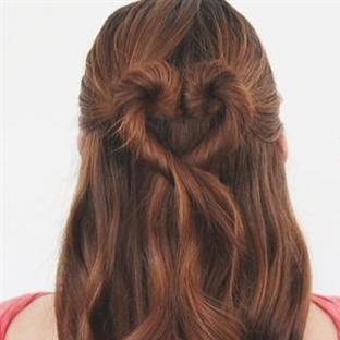 Saçlarınıza kalp şekli verebilirsiniz
