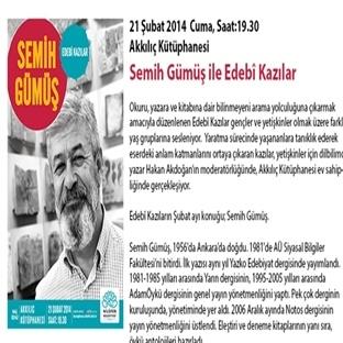 """Semih Gümüş ile """"Edebi Kazılar"""" Bursa'da"""